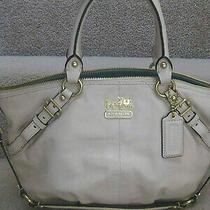Coach 15960 Madison Leather Sophia Satchel Shoulder Bag Bone New Photo