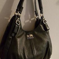 Coach 16503 Maggie Madison Soft Black Leather Double Straps Shoulder Bag Hobo Photo