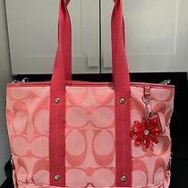 Coach 16559 Daisy Signature Crossbody/tote/shoulder Bag Pink Detachable Strap Photo