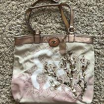 Coach 17031 Canvas Coral Beach Beaded Bag Photo