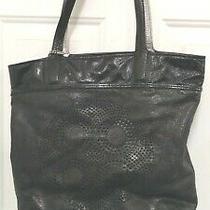 Coach 17041 Audrey Perforated Black Leather Tote Bag Shopper Shoulder Purse Exe Photo