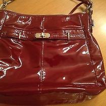 Coach 17861 Chelsea Ashlyn Hobo Patent Leather Wine Handbag Photo