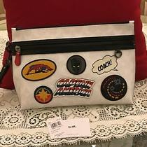 Coach 1829 Marvel Patches Large Pouch Carryall in Signature Canvas Retail 298. Photo