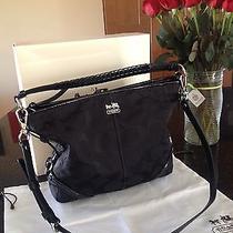 Coach 18903 Chelsea Katarina Black Op Art Signature Hobo Shoulder Crossbody Bag Photo
