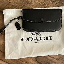Coach 1941 Clutch/wristlet in Black Glove Tanned Leather Photo