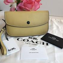 Coach 1941 Glovetanned Leather Clutch Wristlet Wallet Sunflower Yellow 29770  Photo