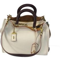 Coach 1941 Rogue Satchel Butterscotch Glove-Tanned Pebbled Leather. Larger Size Photo