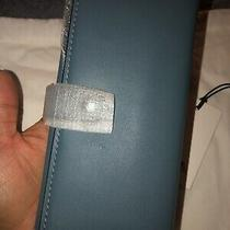 Coach 1941 Slim Trifold Wallet Chambray Blue Glovetanned Leather Nwt 295 Photo