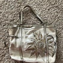 Coach 19577 Canvas Beaded Sun Handbag Photo