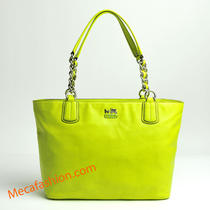 Coach 20466 Madison Leather Tote Kiwi Photo