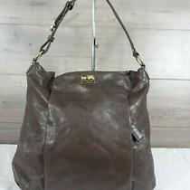 Coach 21224 Brown Leather Madison Isabelle Tote Hobo Handbag Purse Bag Photo