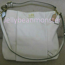 Coach 21224 Madison Leather Isabelle Shoulder Bag Crossbody Parchment New Tag Photo