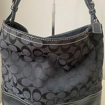 Coach 2156large   Signature Bucket Shopper Shoulder Purse Bag Euc Photo