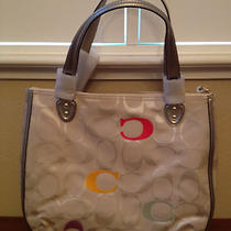 Coach 22472 Poppy Embroidered Signature C Hallie Tote Photo