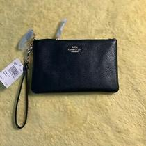 Coach 22952 Small Wristlet - Women's Small Clutch -Black (New With Tag) Photo