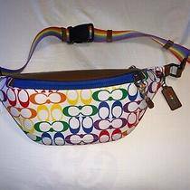 Coach 2472 Rainbow Pride Signature Canvas Warren Belt Bag Crossbody Sling Photo