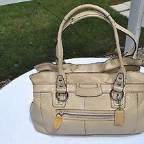 Coach 248 Sweet Pebbled Leather Bag Tan Purse Photo