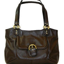 Coach 24961 Campbell Belle Brown Mahogany Leather Carryall Handbag Purse Bag Nwt Photo