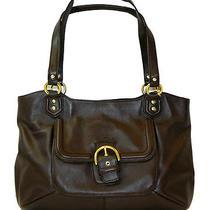 Coach 24961 Campbell Belle Brown Mahogany Leather Carryall Handbag Purse Bag Nwt Photo