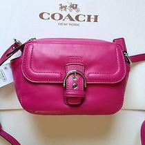 Coach 25150 Fuchsia Campbell Leather Camera Bag Crossbody  Photo