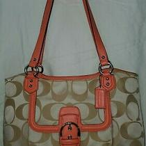 Coach 25294 Campbell Signature Belle Carryall Bag Purse  Photo
