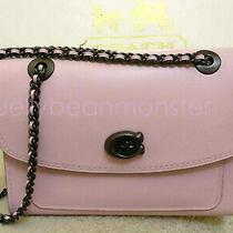 Coach 26852 Parker Leather Chain Shoulder Bag Purse Aurora Pink New Photo