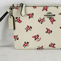 Coach 27094 Floral Bloom Chalk Coated Canvas Wristlet Photo