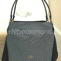 Coach 28895 Legacy Jacquard Edie 31 Shoulder Bag Purse Midnight Navy Blue New Photo