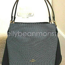 Coach 28895 Legacy Jacquard Edie 31 Shoulder Bag Purse Midnight Navy Blue New Photo
