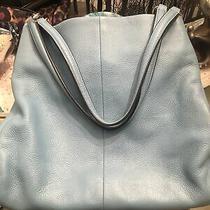 Coach 28997 Leather Lexy Shoulder Hobo Purse Handbag Carryall Bag Baby Blue Photo