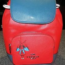 Coach 2901 Limited Edition Marvel Miami Red Leather Backpack Spider-Man Nwtags Photo