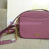 Coach 29411 Camera Bag Leather Crossbody Clutch Purse Rose Pink New Tag Photo