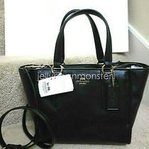 Coach 33537 Crosby Leather Mini Carryall Bag Purse Crossbody Black New Tag Photo