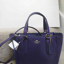 Coach 33537 Crosby Leather Mini Carryall Bag Purse Violet Purple New Tag Photo