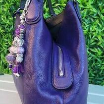 Coach 33547 Polished Pebbled Leather Edie Lrg Shoulder Bag Purse Hobo Handbag  Photo