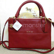 Coach 33562 Mini Turnlock Borough Leather Crossbody Shoulder Bag Red Currant New Photo