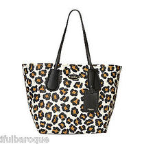 Coach 33851 White Multi Ocelot Print Textured Leather Large Taxi Tote Shopper Photo