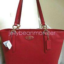 Coach 33961 Ellis Leather Shoulder Tote Bag Purse Handbag Red New Tag Photo