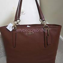 Coach 33961 Ellis Leather Shoulder Tote Bag Purse Handbag Saddle Brown New Tag Photo