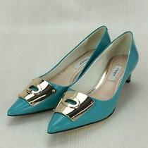 Coach  36  Enamel  Back to the Damage  Size 36 Blue Heels 552 From Japan Photo