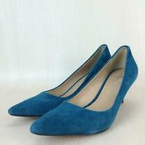 Coach  36  Suede Size 36 Blue Fashion Heels 554 From Japan Photo