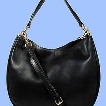 Coach  36026 Nomad Black Glove  Tanned Leather Hobo Shoulder Bag Msrp 495.00 Photo