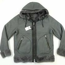 Coach 36351 46 Lamb Shearling Hoodie Hooded Jacket Cow Leather Reversible Xl Photo