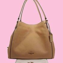 Coach 36464 Edie Beech-Wood  Refined Grain Leather  Shoulder Bag  Msrp 325.00 Photo