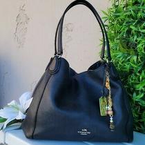 Coach 36464 Polished Pebbled Leather Edie Lrg Shoulder Bag Purse Hobo Handbag  Photo
