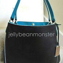 Coach 37721 Edie 31 Edgestain Leather Shoulder Bag Purse Black Tricolor New Photo
