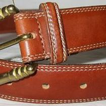 Coach 3910 British Tan Brown English Bridle Leather Belt  Small Very Good Cond. Photo