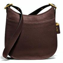 Coach 395 Emery Crossbody Leather Shoulder Bag Brass/dark Teak Brown Nwt Photo