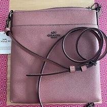 Coach 41320 Crossgrain Leather Messenger Crossbody Bag Vintage Pink Photo