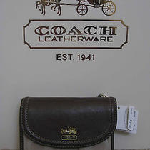 Coach 46660 Madison Op Art Lurex Flap Medium Wallet Purse Khaki Beige Brown New Photo